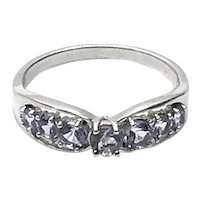 Sterling Silver CZ Ring Size 9