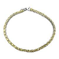 Sterling Silver Citrine Rhinestone Tennis Bracelet