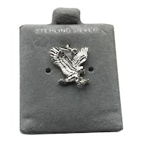 Sterling Silver Flying Eagle Charm NOS