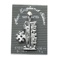 Sterling Silver # 1 FRIEND Charm NOS