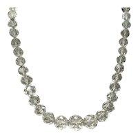 Clear Quartz Faceted Bead Necklace