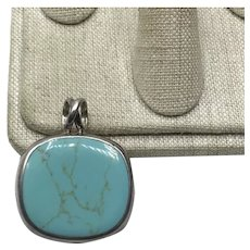 Sterling Mexican Turquoise Pendant