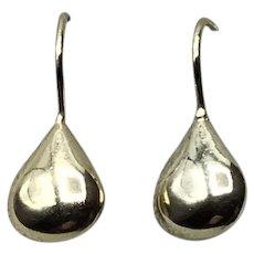 Silver Vermeil Teardrop Drop Earrings
