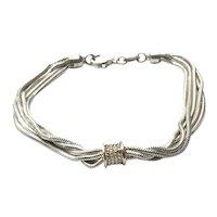 Sterling Silver Five Strand Bracelet