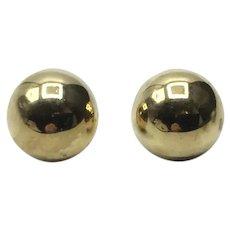 Gold Filled 1/2 Ball Earrings