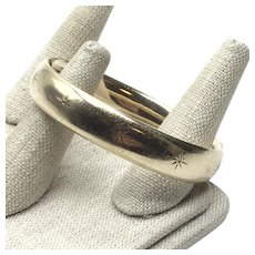 Gold Filled Carl Art Bangle Bracelet