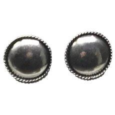 Sterling Silver Beaded Pierced Earring