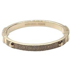 Michael Kors Gold Tone Sparkly Bangle  Bracelet