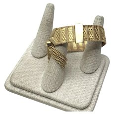 Gold Tone Metal Tassel Bracelet