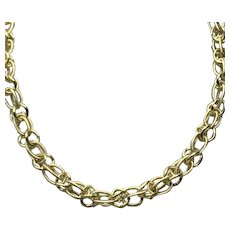 Vermeil Double Twisted Link Chain Necklace
