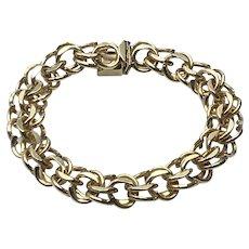 1/20 14K Gold Filled Double Link Charm Bracelet