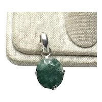 Sterling Silver African Zambian Emerald Pendant