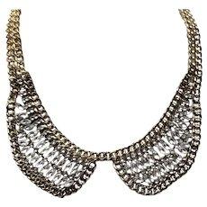Gold Tone Rhinestone Necklace