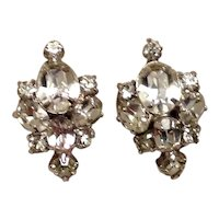 Silver Tone Sparkling Rhinestone Earrings