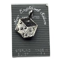 Sterling Silver NOS Dice Charm