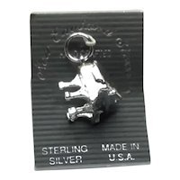 Sterling Silver NOS Grand Piano Charm