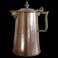 Colonial Virginia Hammered Copper Coffee or Tea Pot Hand Made