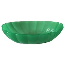 Steuben Jade Green Peking Glass Center Bowl 12""