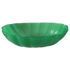 """Steuben Jade Green Peking Glass Center Bowl 12"""""""