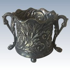 Pairpoint Silverplate Repousse Toothpick Holder