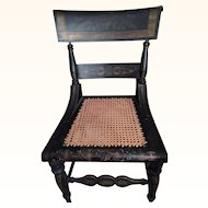 A PR of Original Antique Hitchcock Chair w.Stenciling Early 1800's!