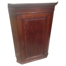 Sale! English George III Oak Hanging Corner Cabinet  Excellent Condition Circa 1780