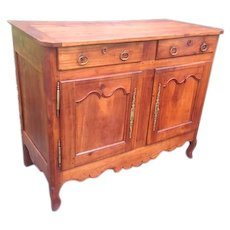 Antique French Louis XV Country French Cabinet Solid Cherry Circa 1770! --