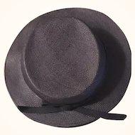 Antique Black hat for Antique Doll