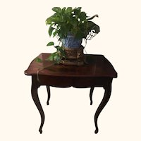 Gorgeous Antique George III English Mahogany Sewing Table