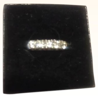 One Carat Diamond Eternity Band 14kt White Gold White Diamonds GC Size 6