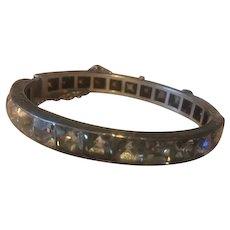 Magnificent Deco Paste Bracelet Snap Closure with filgree etching!