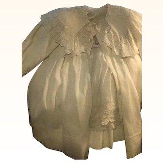 Antique Baby Carriage Coat & Dress Gorgeous whitework Circa 1890