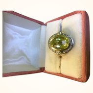 Magnificent Limon Quartz ring 14kt Size 8-9
