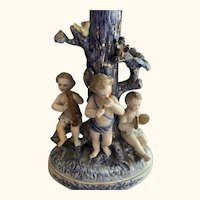 Antique English porcelain cherub figurine