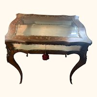 Antique French painted curio