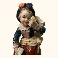 Antique Dresden Boy Figurine
