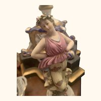 "7"" antique Capodimonte lady figurine"