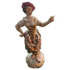 "Antique Chelsea figurine marked 5 3/4"""