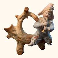 "3.5"" German antique musical jester figurine"