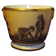 Antique 18th century French Empire Old Paris Porcelain Urn Shape Cachepot Vase by Dihl et Guerhard 1790 - 1805
