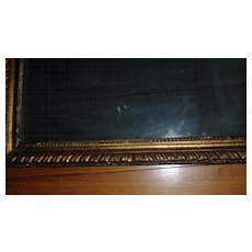 Fine and Rare Antique George III 18th century Carved Gilt Wood Picture Frame