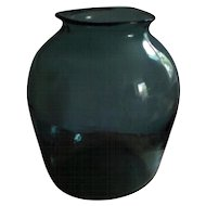 Large Antique 19th century American Blown Green Glass Vase