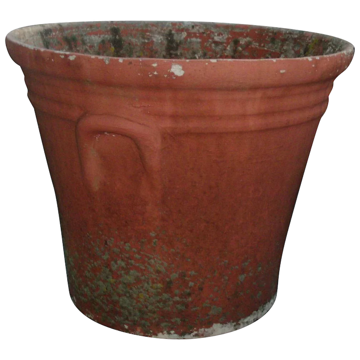 Large Vintage 1940 S Watts Concrete Flower Palm Tree Pot With Terra Classic Tradition Ruby Lane