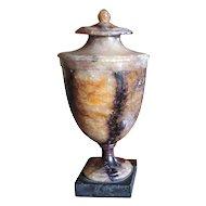 Antique George III Derbyshire Feldspar Blue John Vase Urn 1800