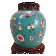 Antique 19th century Chinese Porcelain Ginger Jar Mounted as a Lamp