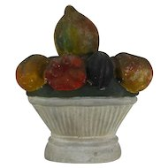 Antique 19th century American Chalkware Urn with Fruit