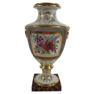 Antique Early 19th century Old Paris Porcelain Urn Vase 1810
