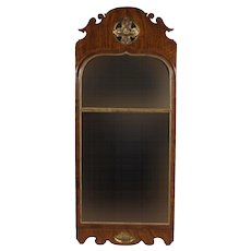 Antique 18th century English Queen Anne Walnut Long Pier Mirror