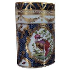 Antique 18th century Worcester Porcelain Dr. Wall Blue Scale Tankard Mug