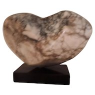 Mid Century Modern Carved Marble Abstract Sculpture by Dorothy Abbott